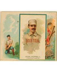 John Morrill, Boston Beaneaters by Allen & Ginter