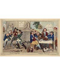 British Cartoon Prints : French Happines... by Cruikshank, Isaac