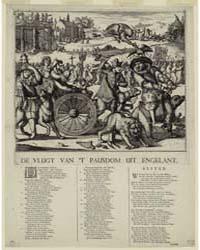 British Cartoon Prints : De Vlugt Van 'T... by Hooghe, Romeyn De