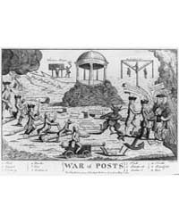 British Cartoon Prints : War of Posts T ... by Colley, Thomas