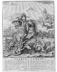 British Cartoon Prints : George's Combat... by Library of Congress