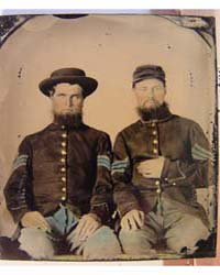 Two Unidentified Soldiers in Union Serge... by Library of Congress
