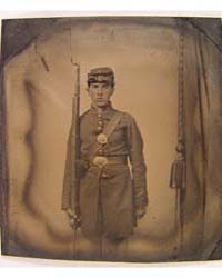 Unidentified Soldier in Union Frock Coat... by Library of Congress