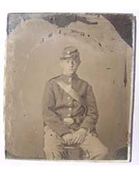 Unidentified Soldier in Uniform and Kepi... by Library of Congress