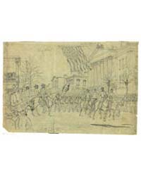Gen Sherman Reviewing His Army in Savann... by Waud, William