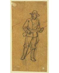 Full Length Portrait of Soldier, Photogr... by Waud, Alfred R.
