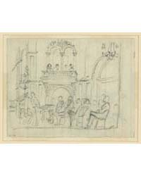 Interior of Building, with Seated Figure... by Waud, Alfred R.