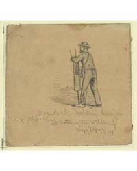 Wounded Soldier Leaning on a Pitchfork a... by Forbes, Edwin