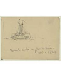 Double Ender on James River, Nov. 1864, ... by Waud, Alfred R.