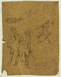 Death of General Polk Pine Mountain, Ken... by Waud, Alfred R.