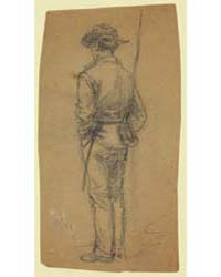 Full-length Sketch of Soldier, Photograp... by Waud, Alfred R.