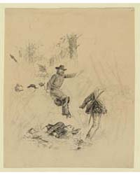 Unidentified Officer Directing His Men, ... by Waud, Alfred R.