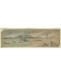 Evacuation of and Firing of Manassas Jun... by Waud, Alfred R.