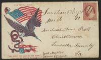 Civil War Envelope Showing an Eagle Carr... by Magnus, Charles