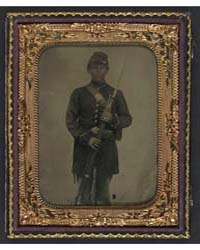 Unidentified Young Soldier in Union Froc... by Library of Congress