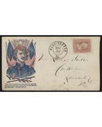 Civil War Envelope Showing Portrait of C... by Wells, John G.