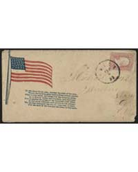 Civil War Envelope Showing American Flag... by Library of Congress