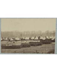 View of Troops in Formation with Camp in... by Library of Congress