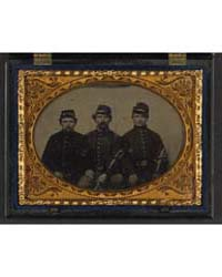 Three Unidentified Soldiers in Union Uni... by Library of Congress