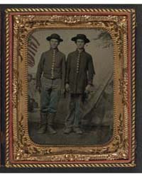 Two Unidentified Young Soldiers in Union... by Library of Congress