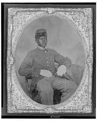 Seated Black Soldier, Frock Coat, Gloves... by Library of Congress