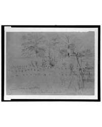 Union Soldiers Cemetery, Martyrs of the ... by Waud, Alfred R.