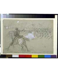 5Th Mich. Charging at Opequonsept 19, Ph... by Waud, Alfred R.