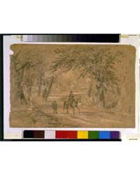 Bridge Through the Chickahominy Swamp, P... by Waud, Alfred R.