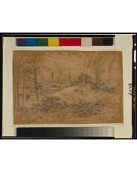 Steam Mill Nr. the Battlefield. Used as ... by Waud, Alfred R.