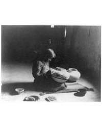 Nunipayo Decorating Pottery by Curtis, Edward S.