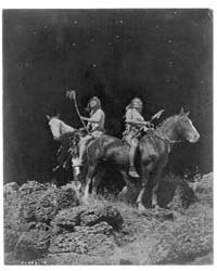 Watching for the Signal--nez Percé by Curtis, Edward S.