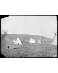 Atsina Camp Scene by Curtis, Edward S.