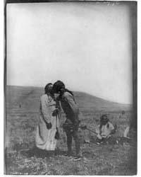 Atsina Crazy Dance--a Dancer Kisses the ... by Curtis, Edward S.