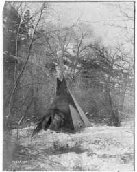 The Winter Camp. by Curtis, Edward S.
