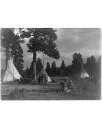 Flathead Camp on the Jocko River by Curtis, Edward S.