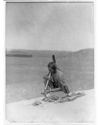 Meditation Cheyenne River Medicine Rock by Curtis, Edward S.