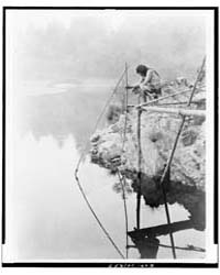 Fishing from a Platform by Curtis, Edward S.
