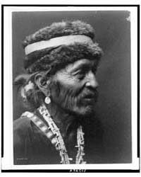 Navajo with Fur Cap by Curtis, Edward S.