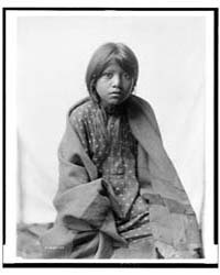 A Taos Girl, Three-quarter Length Portra... by Curtis, Edward S.