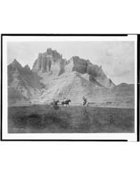 Entering the Bad Lands. Three Sioux Indi... by Curtis, Edward S.
