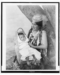 Hupa Mother, Three-quarter Length Portra... by Curtis, Edward S.