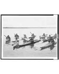 Eskimos in Kayaks, Noatak, Alaska by Curtis, Edward S.