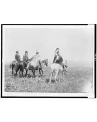 The Chief and His Staff, Apsaroke Indian... by Curtis, Edward S.