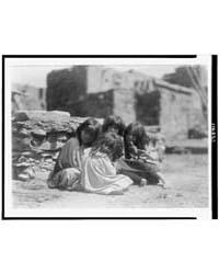 Hopi Children by Curtis, Edward S.