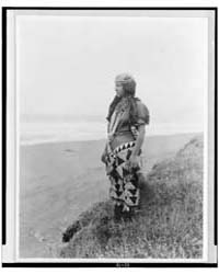 Woman's Primitive Dress--tolowa by Curtis, Edward S.