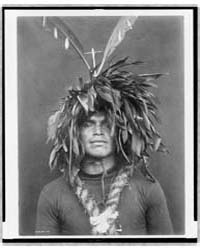 Warrior's Feather Head-dress--cowichan by Curtis, Edward S.