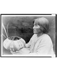 A Lake Mono Basket-maker by Curtis, Edward S.