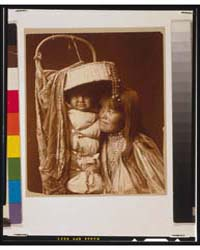 Apache Girl and Papoose by Curtis, Edward S.
