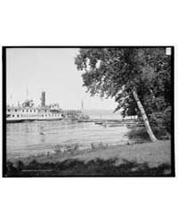 Landing at Trout Pavilion Hotel, Lake Ge... by Library of Congress