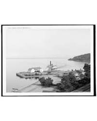 Steamer Landing at Fort Kent, N.Y., Phot... by Library of Congress